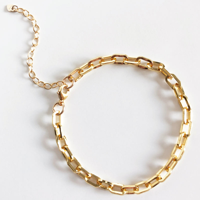 Perfect chain link 14k gold-filled bracelet with extender