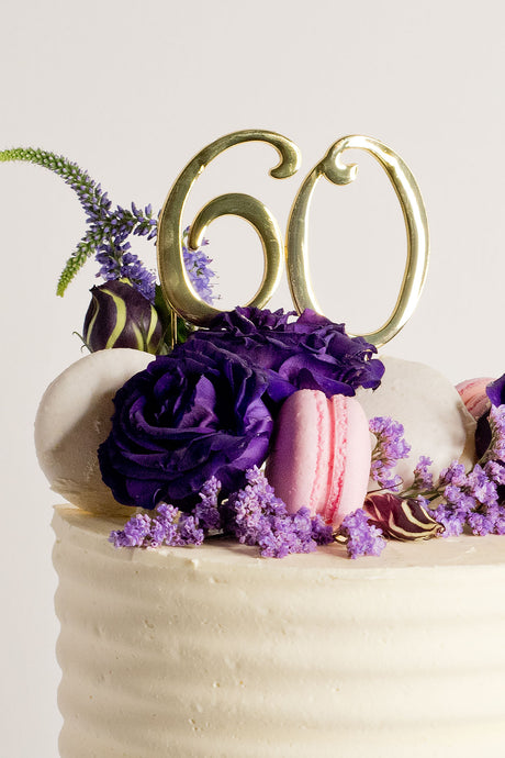 Personalise your cake and make it yours with number cake toppers - in gold. birthday cakes Brisbane, cakes Brisbane cake shops Brisbane, cupcakes Brisbane, cake shop Brisbane, Cute Cakes & Co, Cute Cakes and Co