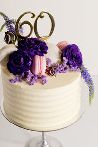 Number cake toppers - gold