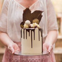 Load image into Gallery viewer, Stunning ornate buttercream cake decorated with a chocolate and macarons, cakes for women, women's birthday cakes, birthday cakes, Brisbane cakes, Brisbane cakes, Brisbane cake shop, cakes home delivered, cakes home-delivered, Brisbane home delivered cakes, Brisbane home-delivered cupcakes, Veruccas Cakes, Veruccas Cake, Verucca Cake, Verucca Cakes, Verucas Cakes, Verucas Cake, Veruca Cakes Veruca Cake, Verrucas Cakes, Verrucas Cake,