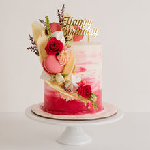 Load image into Gallery viewer, Happy Birthday cake topper - gold