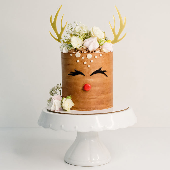 Celebrate Christmas with the fun cake - Rudolf the red nose dear.  Christmas cakes Brisbane, birthday cakes Brisbane, cakes Brisbane cake shops Brisbane, cupcakes Brisbane, cake shop Brisbane, Veruccas Cakes, Verucca Cakes, Verucas Cakes, Veruca Cakes Verrucas Cakes,
