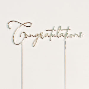 Finish your cake and make it yours with Congratulations cake toppers - in silver. When it's time to say well done. birthday cakes Brisbane, cakes Brisbane cake shops Brisbane, cupcakes Brisbane, cake shop Brisbane, Veruccas Cakes, Verucca Cakes, Verucas Cakes, Veruca Cakes Verrucas Cakes,