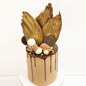 Chocolate buttercream with Chocolate Drip birthday cake. Brisbane cake shop.