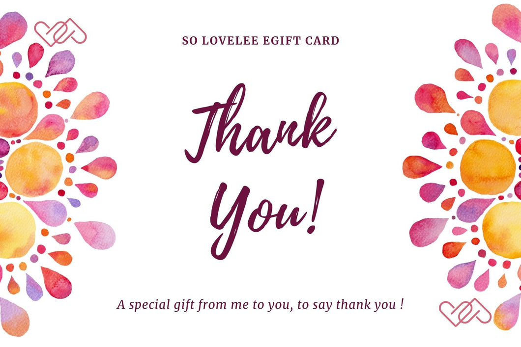 Thank You - Electronic Gift Card