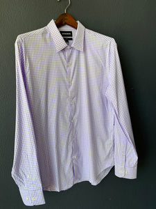 Tech Button Down Purple Enfield Plaid