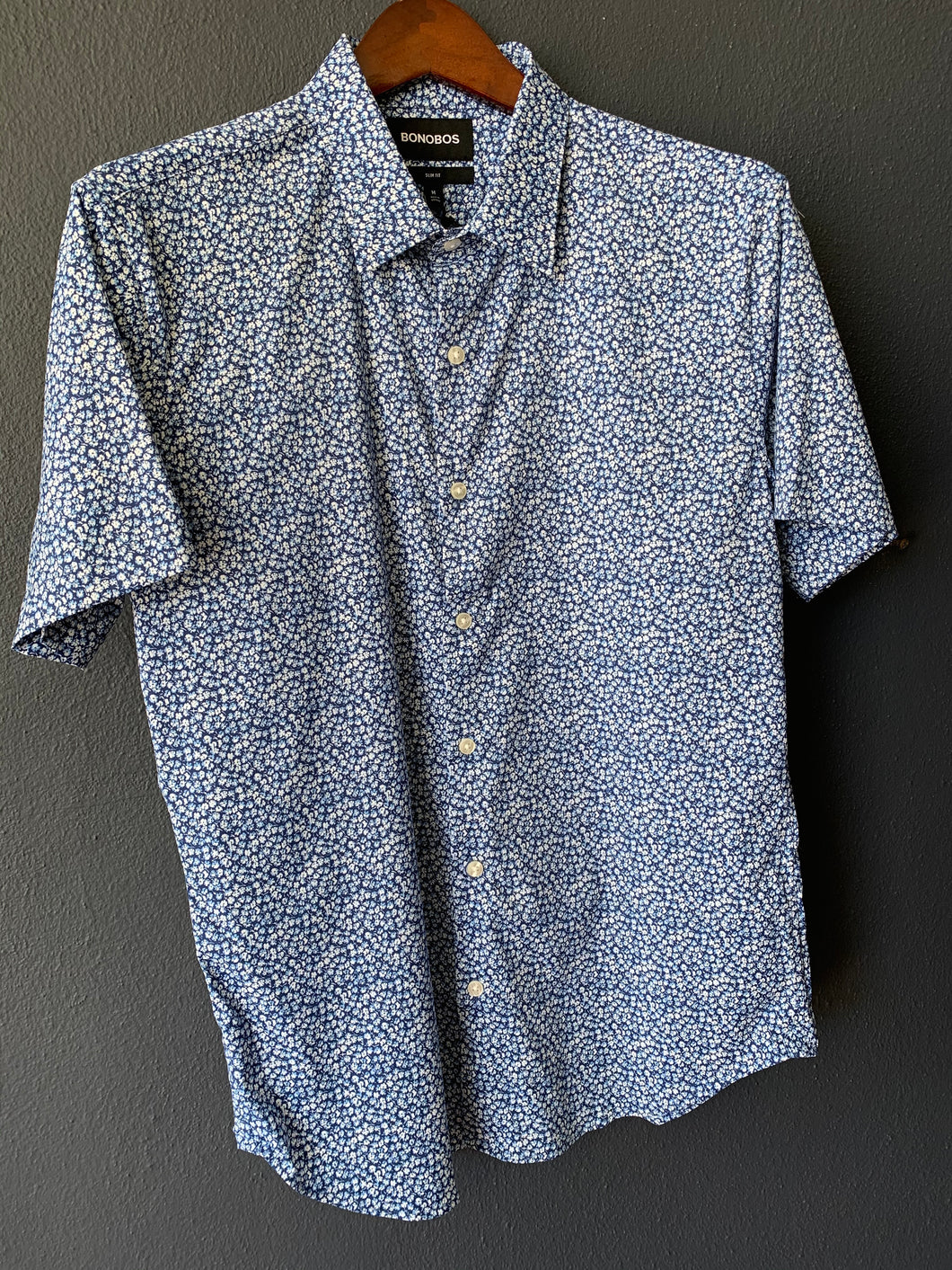 Tech Button Down Stockland Floral Twilight