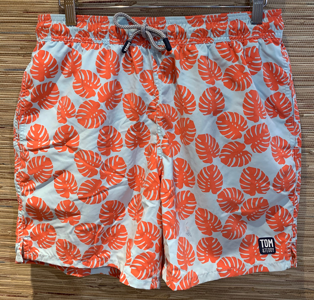 Swim Trunk : red Leaf,pink Lobster, Starfish, Seahorse, Stripe, Penguin, Angel Fish