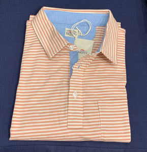 Saltwash striped polo clay