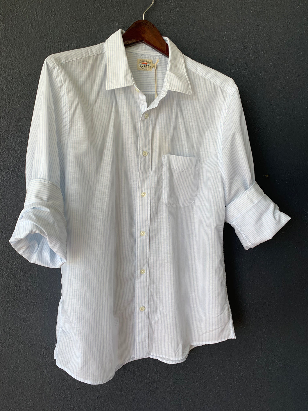 Cloud Summer Blend Shirt Blue/White Pinstripe