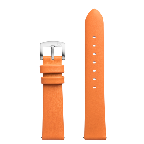 Bia Suffragette Orange Leather Strap