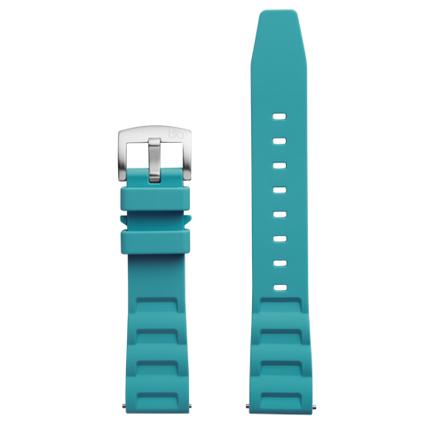 Bia 'Rosie' Dive Green-Blue Silicone Strap
