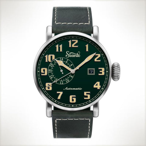 Szanto Automatic Big Aviator 6104, vintage style watch
