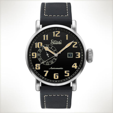 Szanto Automatic Big Aviator 6105, vintage style watch