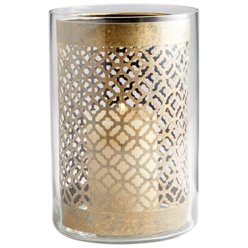 Small Gold Metal Candleholder