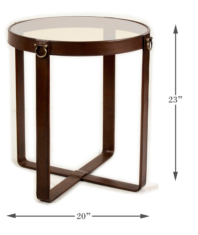 Leather Belt Table