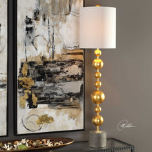 Load image into Gallery viewer, Golden Spheres Buffet Lamp