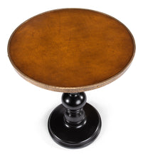 Load image into Gallery viewer, Leather Top Pedestal Table