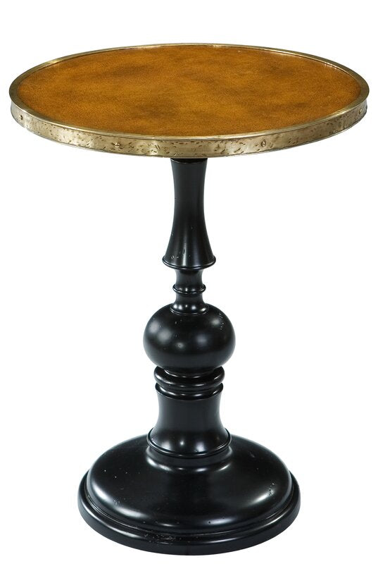 Leather Top Pedestal Table