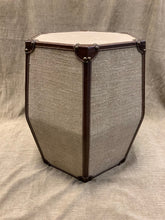 Load image into Gallery viewer, Hexagonal Leather Stool