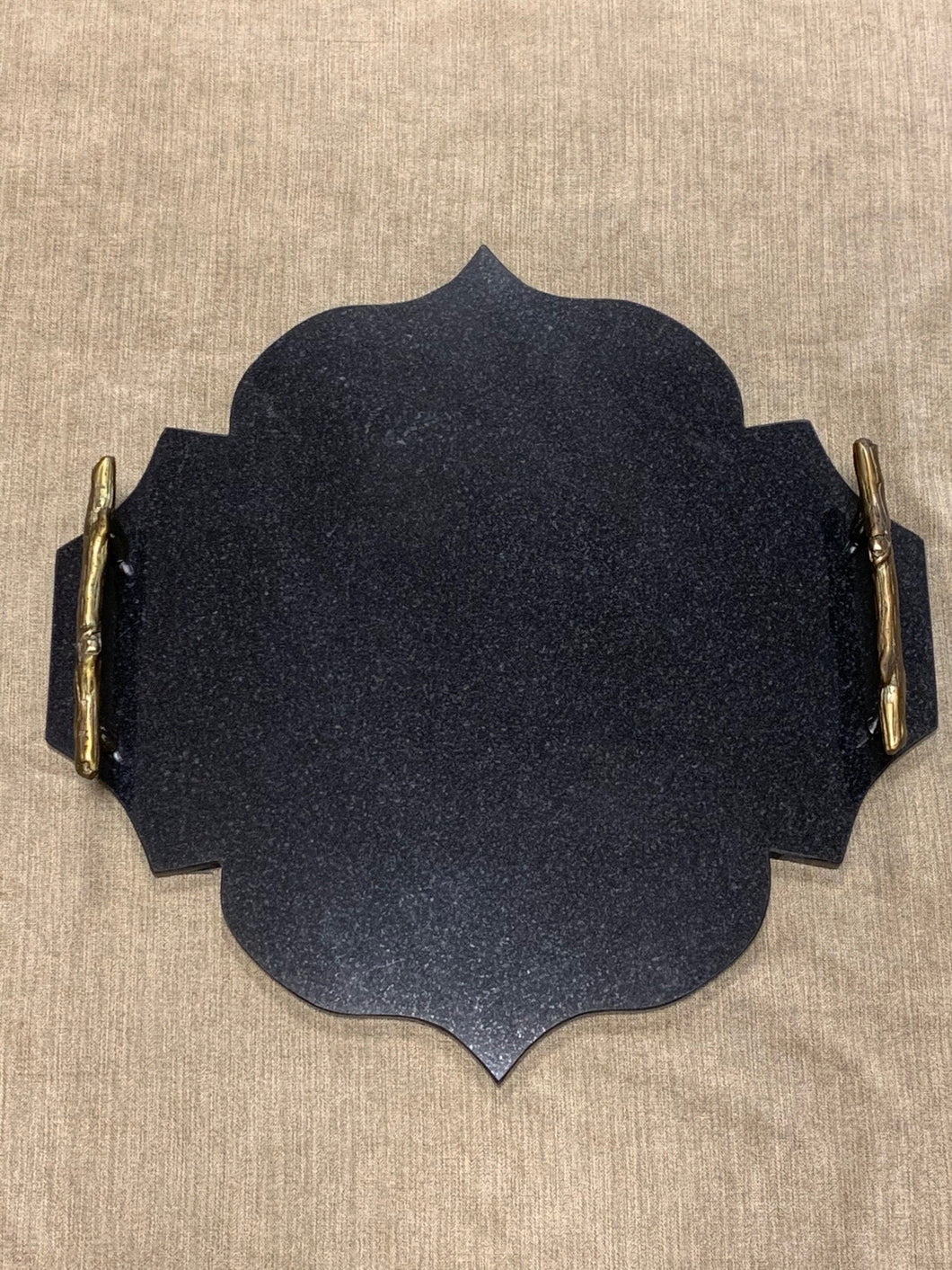 Black Marble Scalloped Tray