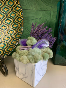 Vase with Lavender & Agates