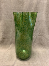 Load image into Gallery viewer, Large Green Glass Vase
