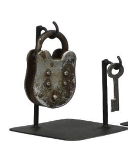 Vintage Lock and Key Stand