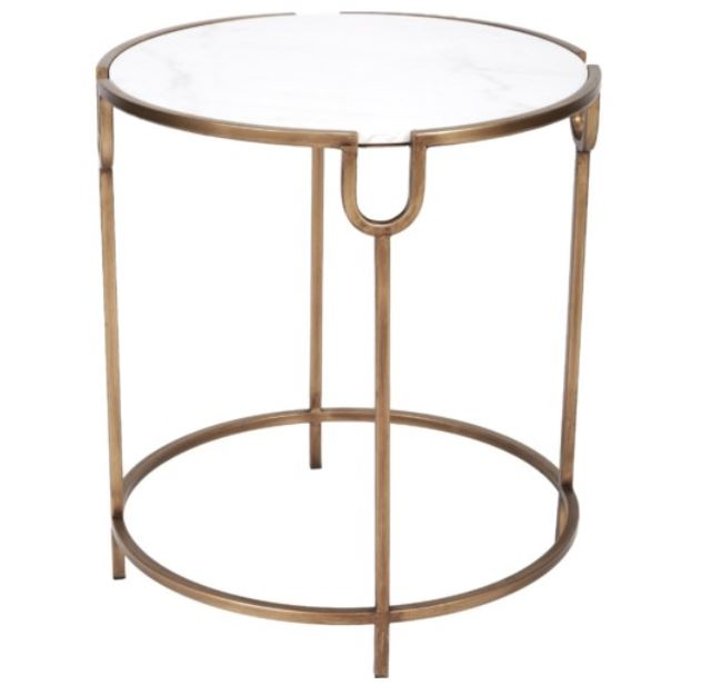 Gold and Marble Round Table