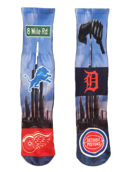 Exclusive Detroit 313 Day Socks