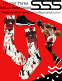 Air Jordan Bred 11 Socks