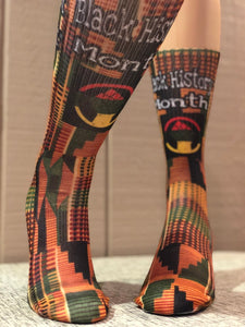 Exclusive BHM Kente Cloth Socks