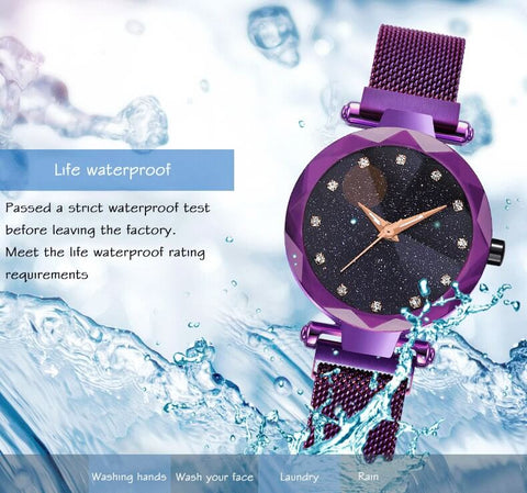 starry watch magnetic watch water resistance