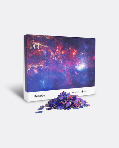 BetterCo Milky Way Galaxy 1000 Piece Jigsaw Puzzle for Adults