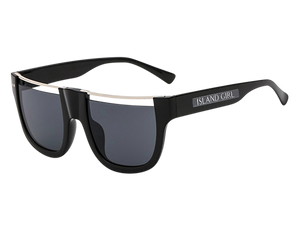 JLO Black Half-Frame Sunglasses. JLo inspired black rounded sunglasses with a half frame.