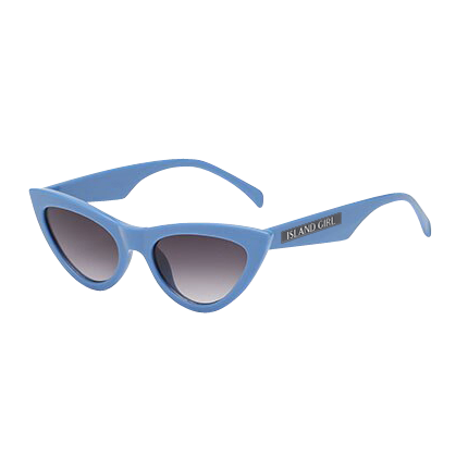 Blue Retro Cat Eye Sunglasses. Cat-Eye shaped sunglasses with a blue frame.
