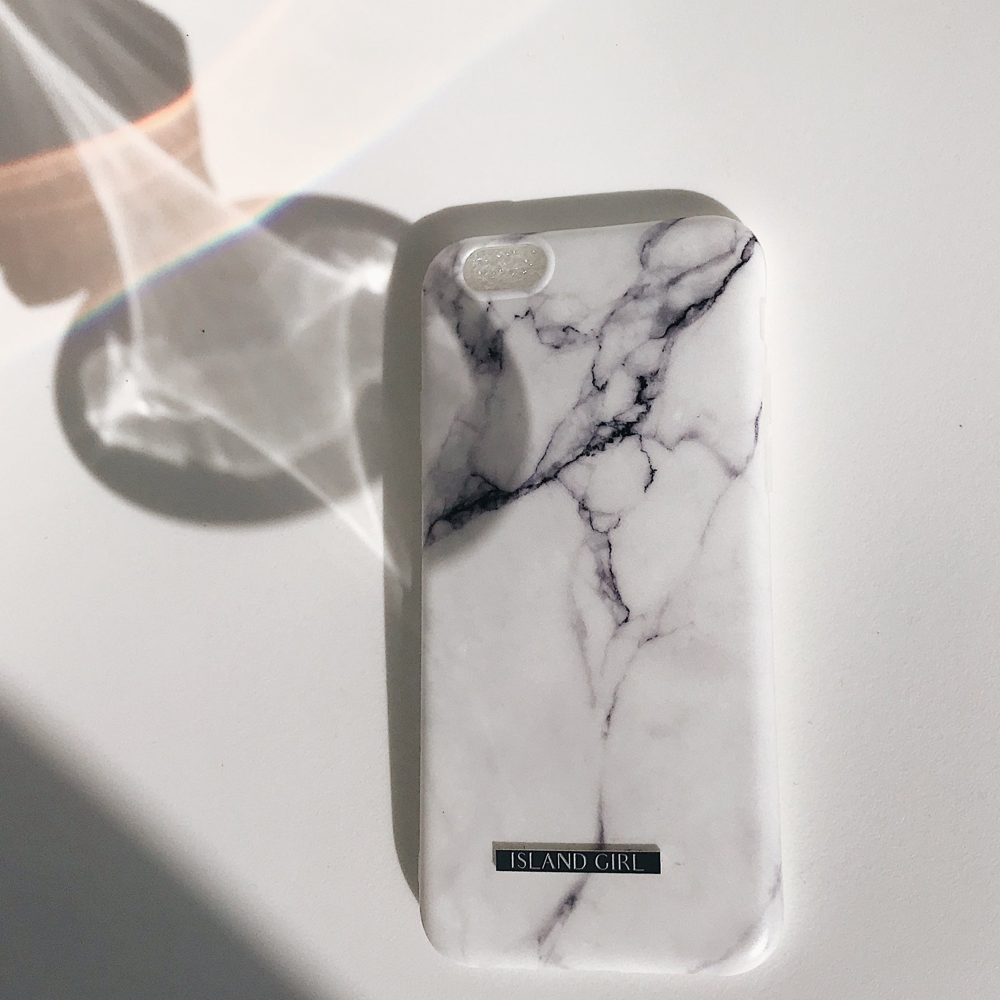 Phone Case Marble White - IPHONE ONLY
