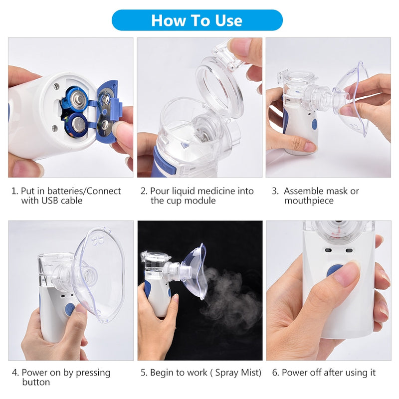 Value Accessory Portable Mini Mesh Compressor Nebulizer Machine