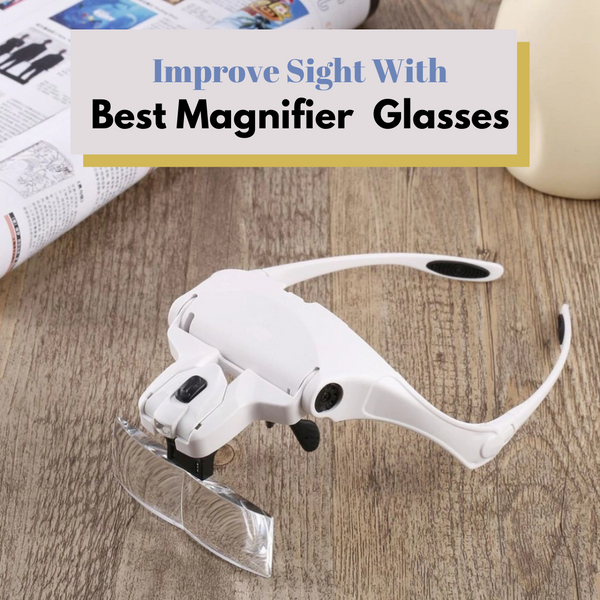 Best Value Handsfree Magnifying Glasses Visor Headset for Professional Jewelry Work Art Hobby