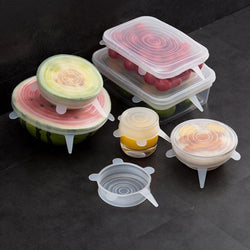 Silicone Stretch Reusable Lids Covers for Food