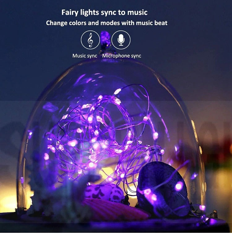 Customized Fairy String LED lights USB Powered Remote Control Light for Christmas Tree Garden Decoration