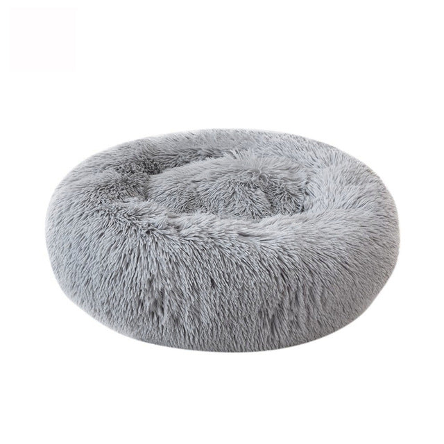 Soft Fluffy Round Plush Pet Sleeping Bed