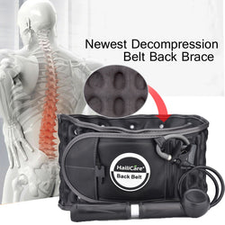 Waist Air Traction Brace Belt Backache Heat Therapy Spinal lumbar Support Back Belt Pain Release Massager Physio Decompression