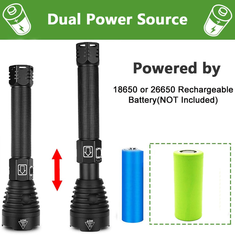 Rugged Rechargeable Handheld LED Flashlight