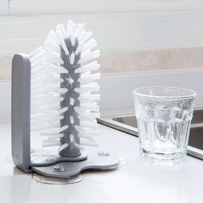 Kitchen Suction Wall Lazy Cup Brush