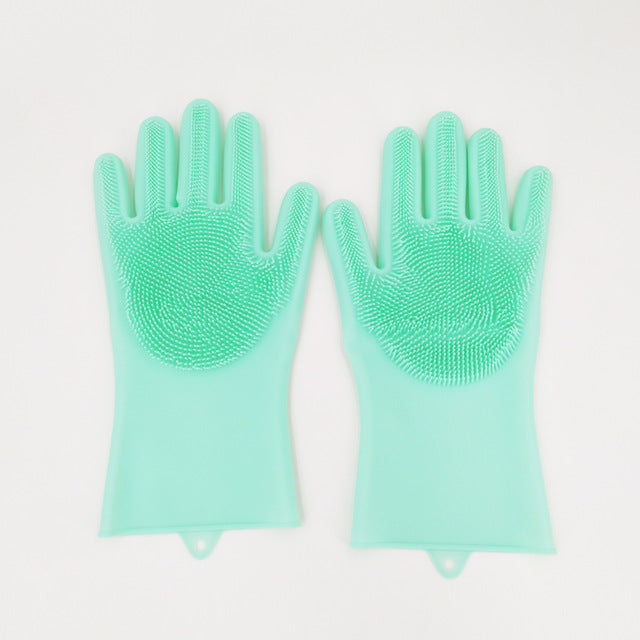 Magic Silicone Rubber Dish Washing Glove