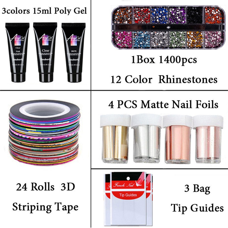 Gel Polish Nail Art Manicure Kit