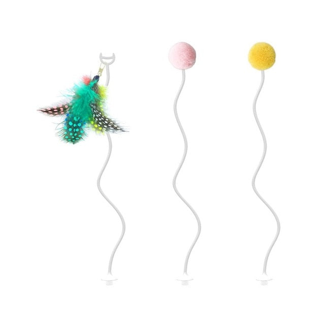 Electric Feather Roly-Poly Cat Toy