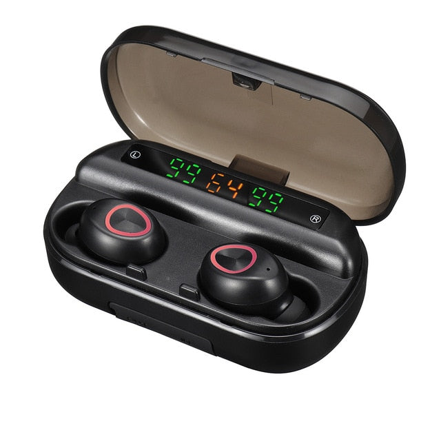 TWS 4000mAh v5.0 bluetooth Stereo Wireless Earphones