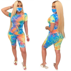 Women Tracksuit Two Piece Set With Mask